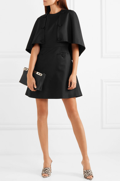 Little black dress alternatives Saragh Battaglia cape mini dress