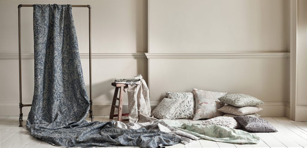 An example of a Sanderson Chiswick Grove collection shoot at Chiswick Grove with styling by Anna and pictures by Chris Everard on location in Bath