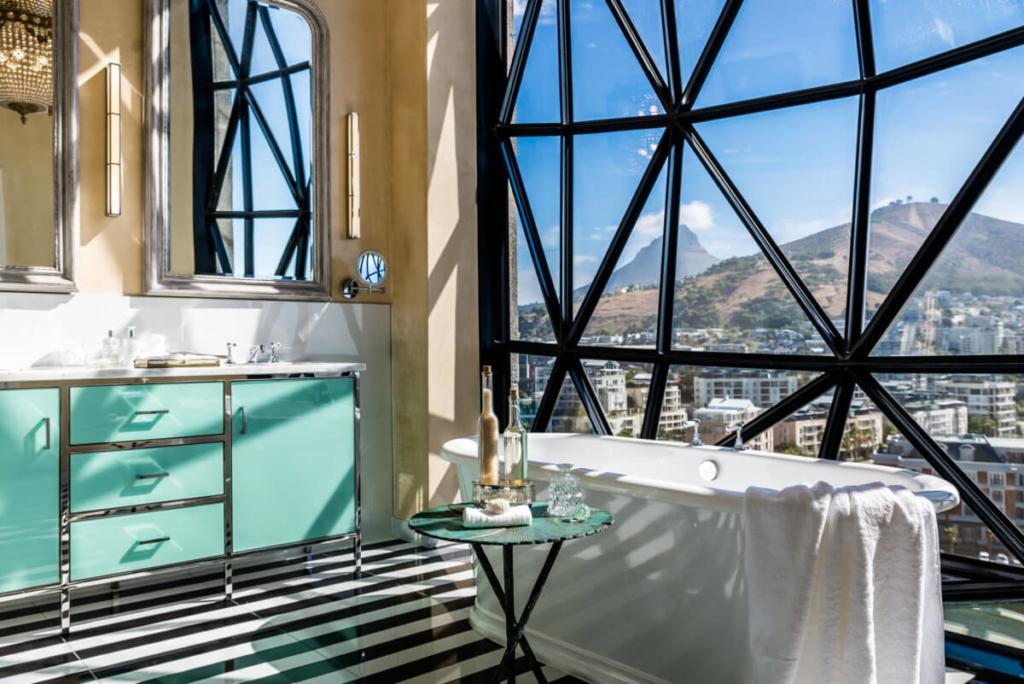The Silo Hotel South Africa hotel-style bathroom