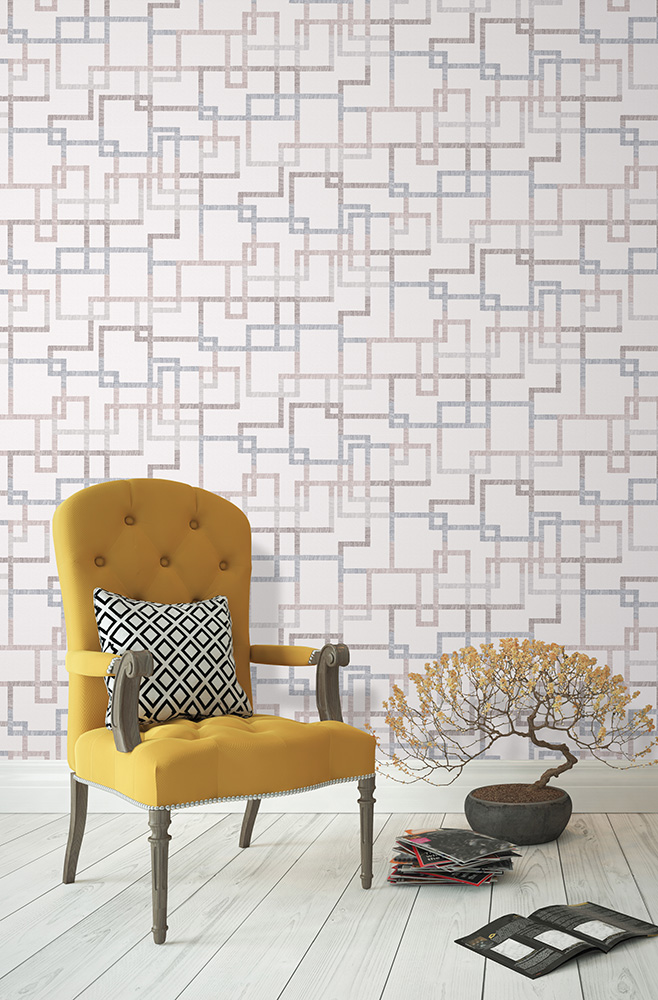 The new Elizabeth Ockford Hatton wallpaper from the Gingko collection