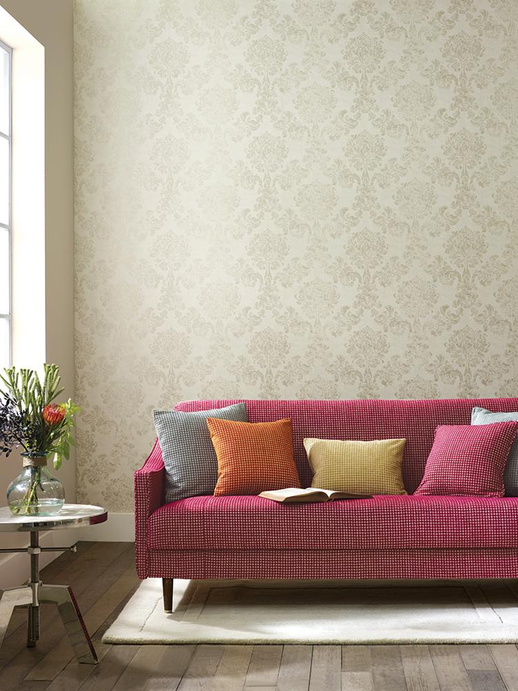 Elizabeth Ockford wallpaper Danehill in Lindfield cream