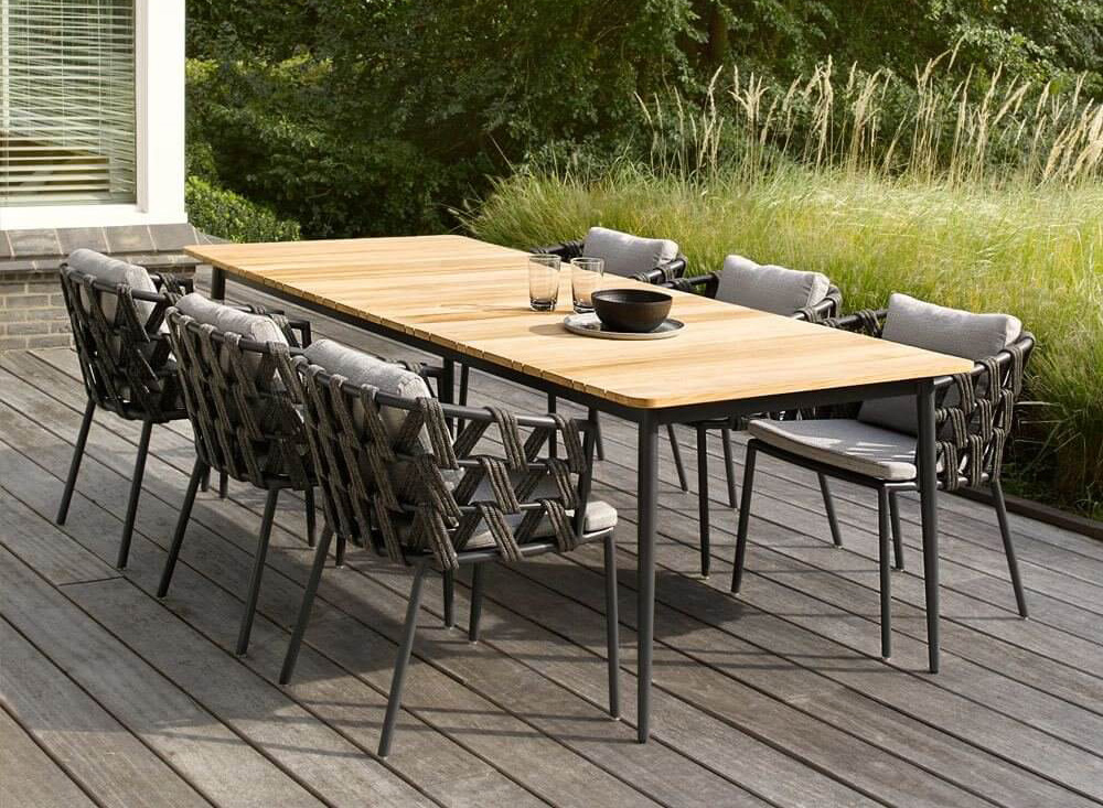Outdoor living: beautiful outdoor dining set by houseology
