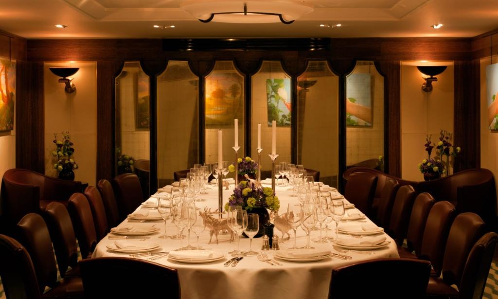 Luxury London restaurants: Scott's private dining room