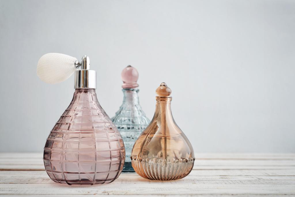 Summer perfumes: Vintage antique bottles