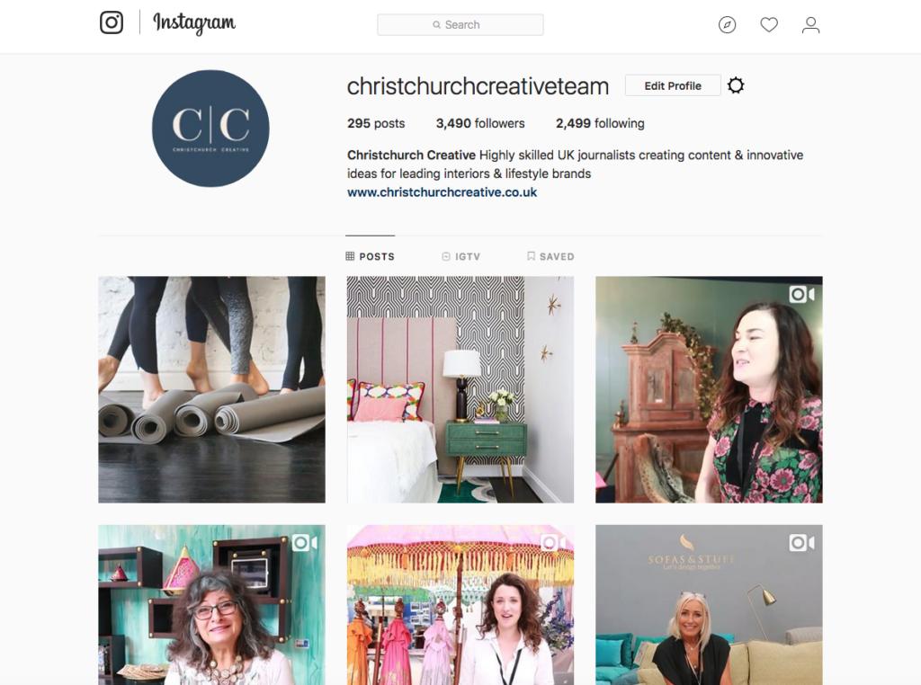 Good content: Social media feed Instagram