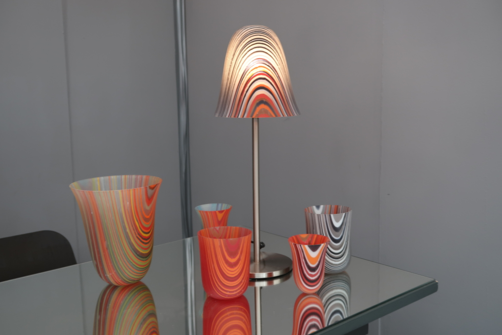 Aline Johnson Glass Design landscape Decorex 2018