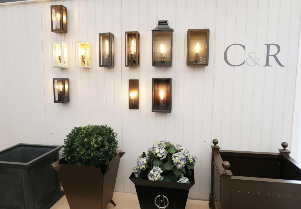 Cressida & Rose lighting and planters Decorex 2018