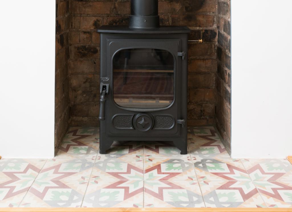 Tiles living room design