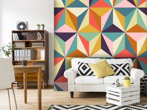 autumn winter interiors 2018 Wallsauce geometric patterns