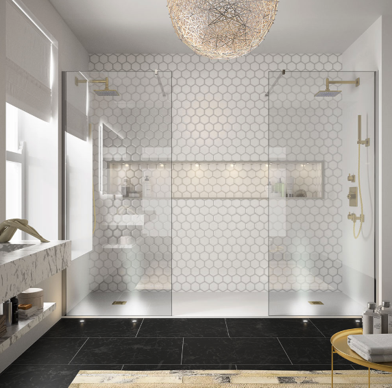 autumn winter interiors trends 2018 Merlyn showering mixing metals Merlyn 8 Series showerwall