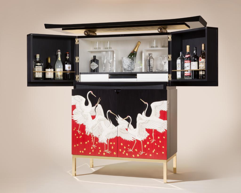 Furniture makers Zelouf & Bell Torii bar external open