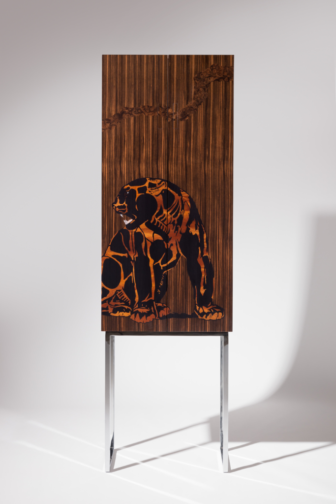 furniture makers zelouf bell jaguar and the crow cabinet