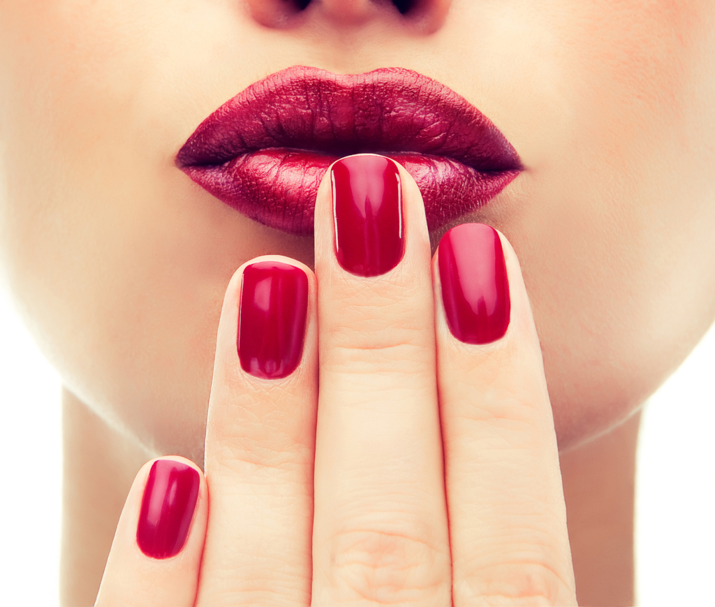 Christmas beauty tips manicure nail , cosmetics and makeup