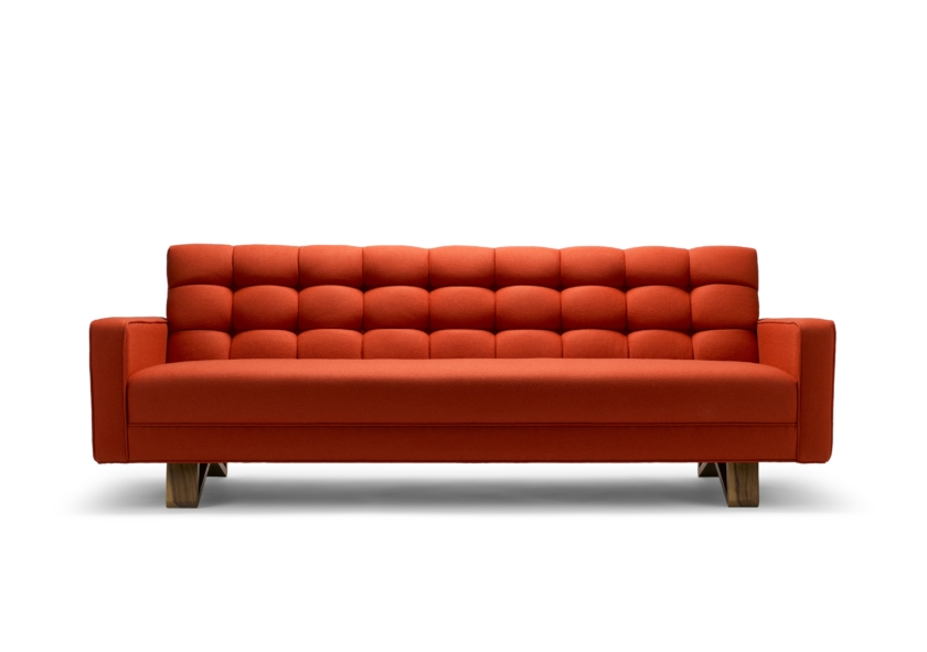 furniture maker colour The Adoni Sofa in red wool_Stuart Scott