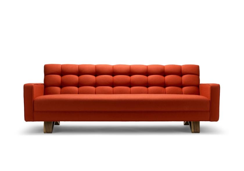 furniture maker colour The Adoni Sofa in red wool_Stuart Scott