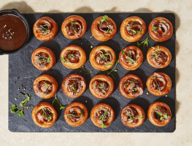 Christmas canapes M&S Yorkshire puds 2