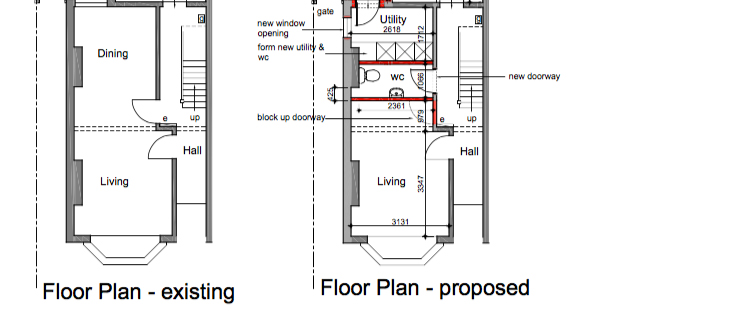 design a cloakroom Floorplan 1