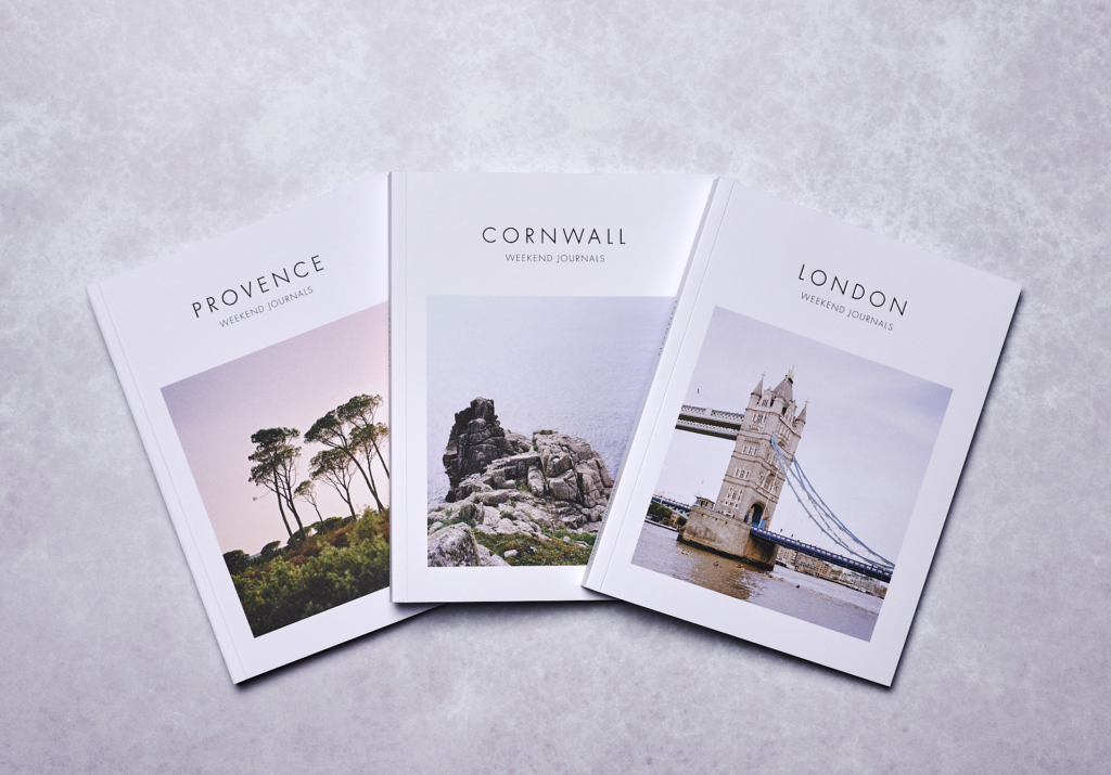 Inspirational guidebooks Provence, Cornwall and London by Weekend Journals. Photo: Gabriel Kenny-Ryder for Weekend Journals