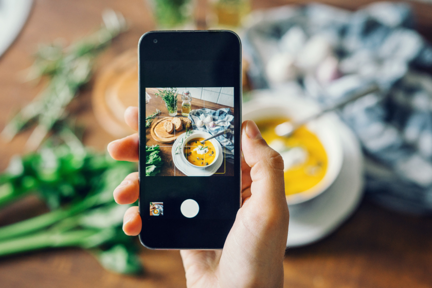 Instagram marketing tips image of food