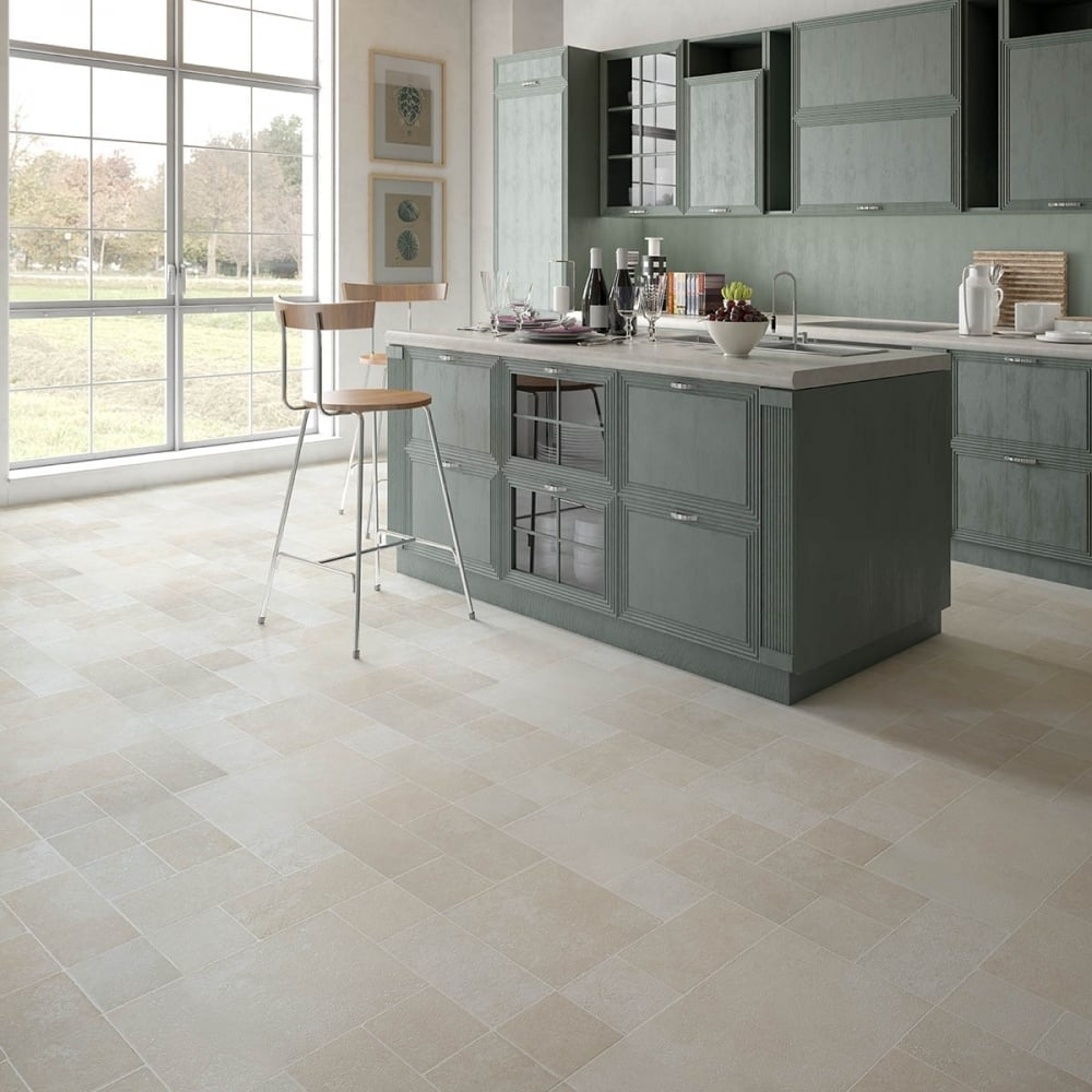 kitchen flooring Discount Flooring Depot executive-8mm-tile-effect-laminate-multi-beige