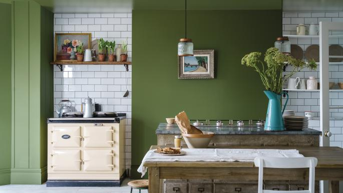 choosing paint colours Farrow & Ball Bancha as seen in Sunday Times