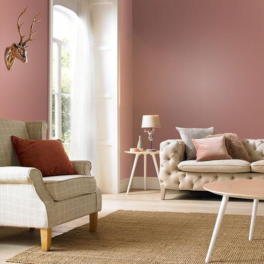 Choosing paint colours Highland Rose matt emulsion Graham & Brown