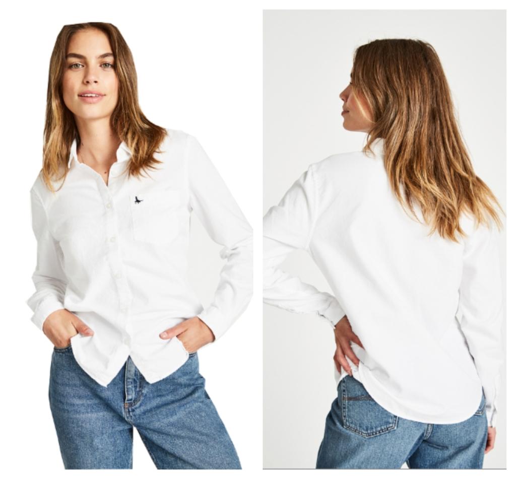 women's fashion at Coes White shirt