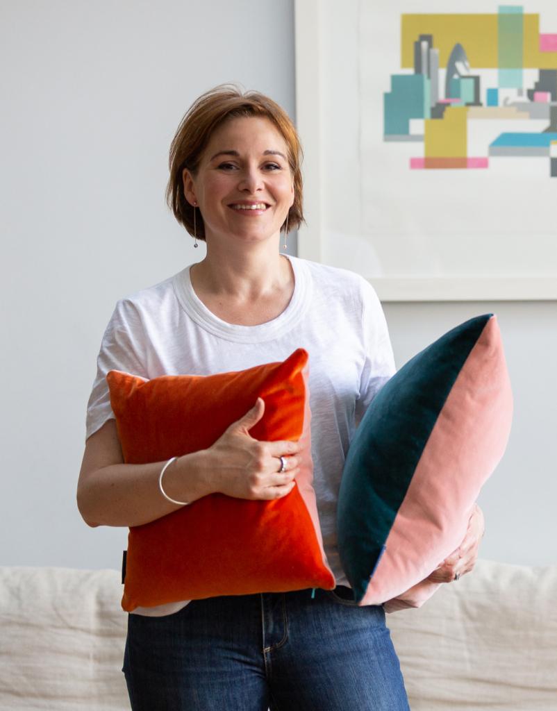 Helen Gilbert velvet cushions