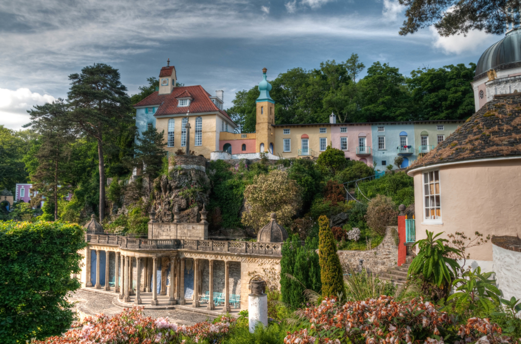 Wales holidays Portmeirion village and landscaped gardens