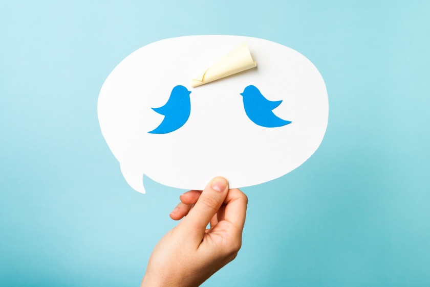 How to use Twitter Two birds on speech bubble