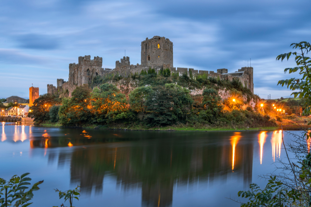 Wales holidays Pembroke Castle in South Wales