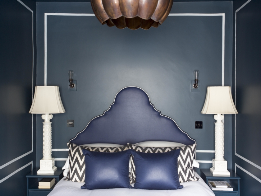016 THE ICONIC BLUE ROOM IN BATTERSEA FEATURING HAND APPLIED RIBBON PANELLING BY HENRY PRIDEAUX interior designer