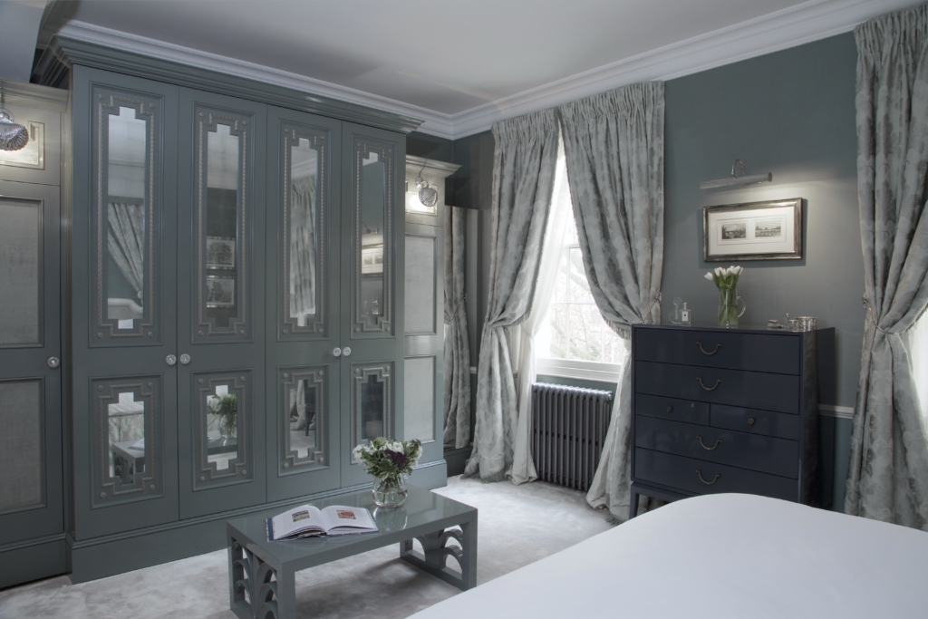 020 MASTER BEDROOM DRESSING AREA WITH CUSTOM FITTED WARDROBES REGENTS PARK TOWNHOUSE BY HENRY PRIDEAUX interior designer