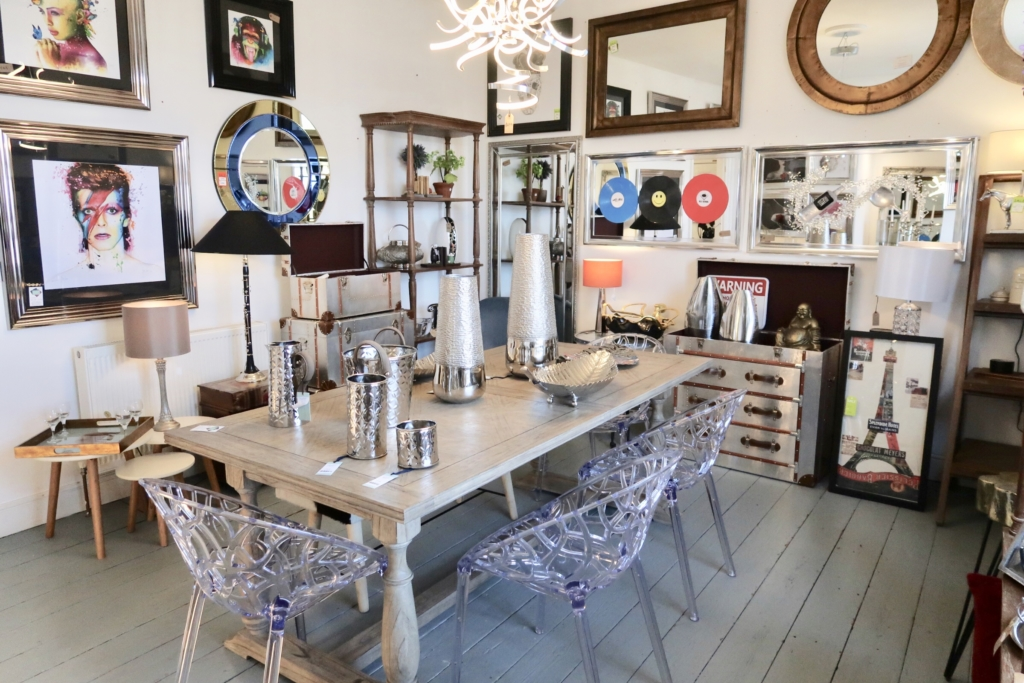 designer homeware dining area with furniture and accessories in The House In Town