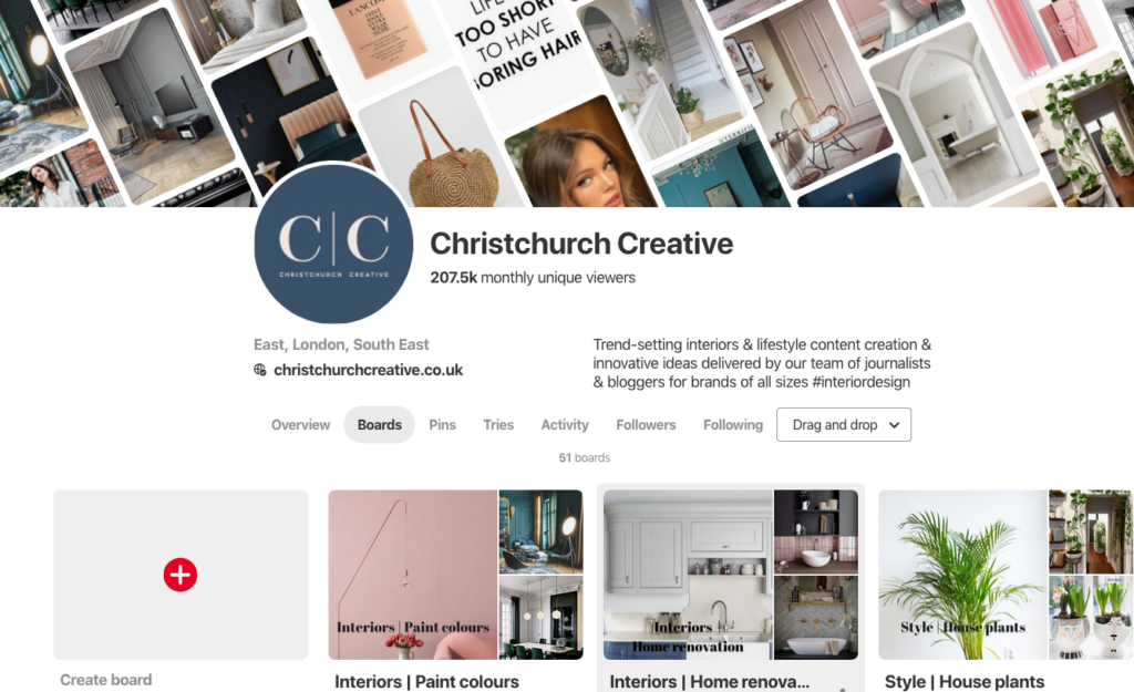 Christchurch Creative Pinterest front cover Pinterest for business