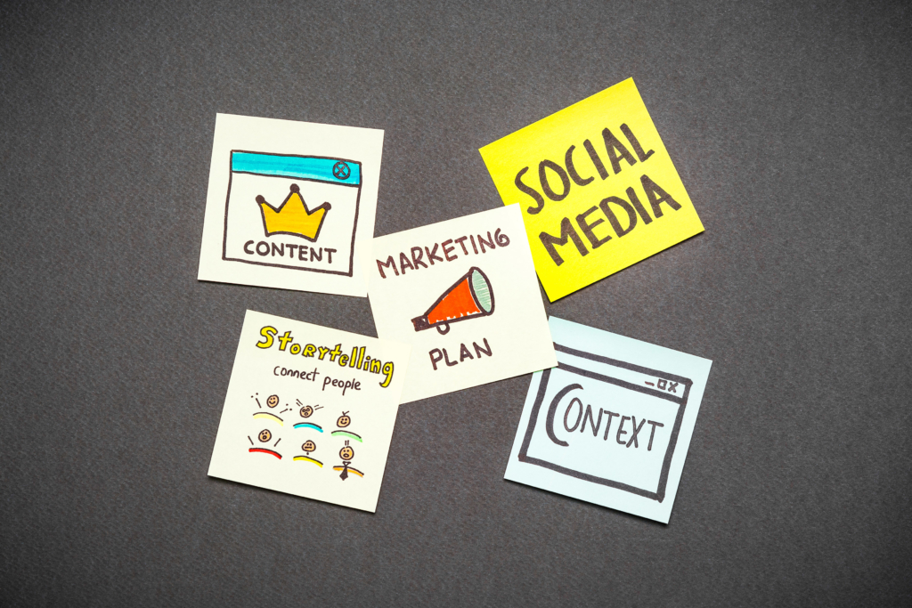 content marketing Marketing plan, context, content, storytelling and social media