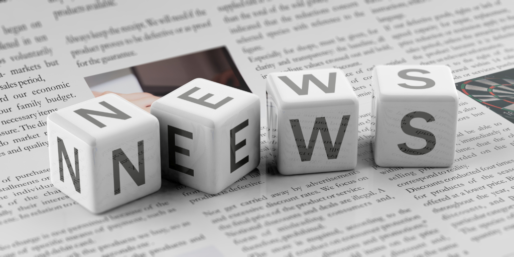 3d rendering cubes word news for newsletter