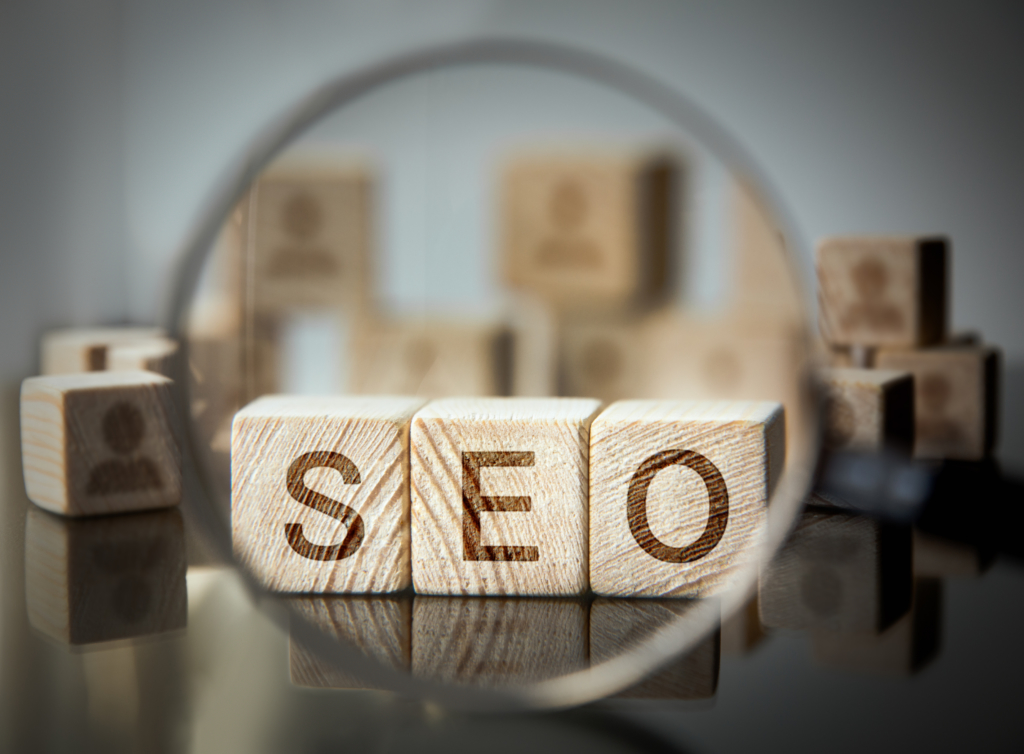 importance of SEO Cubes in front of a magnifying glass
