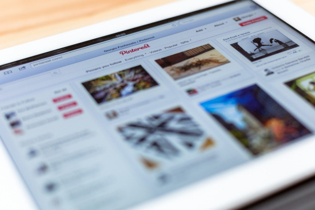 Pinterest for business on an ipad