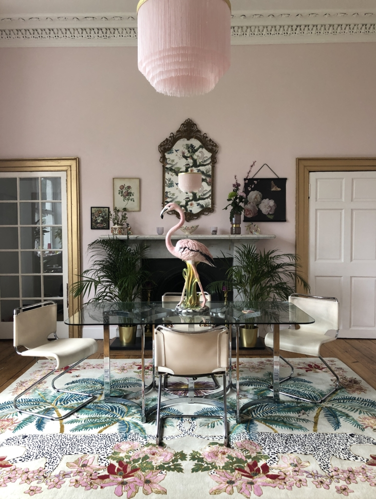 designer rugs Wendy Morrison in dining room