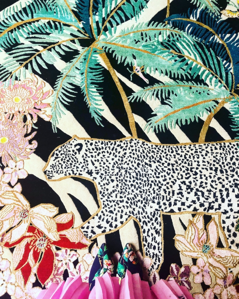 designer rugs Leopard Palms rug by Wendy Morrison