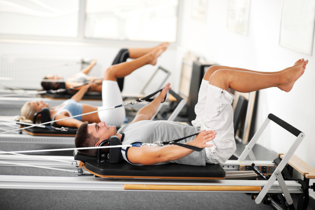 Pilates classes on reformer machines