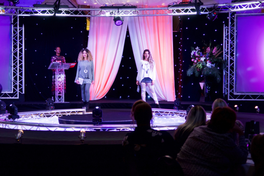 Suffolk Fashion Show lead shot showing Cake and Catwalk