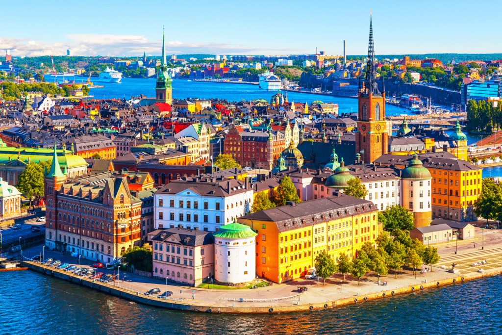 European cities to visit Aerial panorama of Stockholm, Sweden