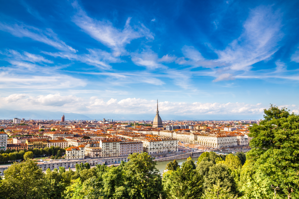 European cities to visit View of Turin city centre-Turin,Italy