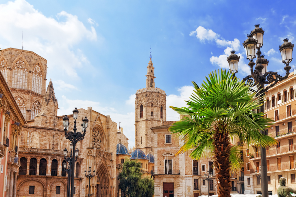 European cities to visit Square of Saint Mary's and Valencia cathedral.