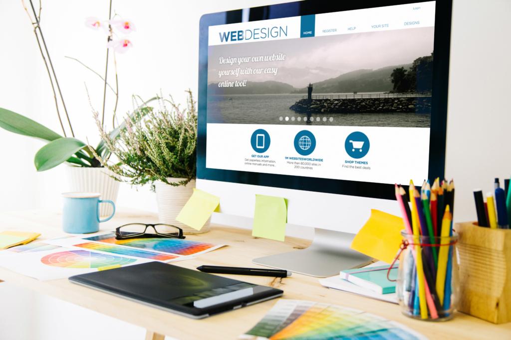 web design studio website content