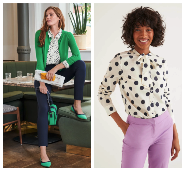 2020 fashion trends polka dots from Boden