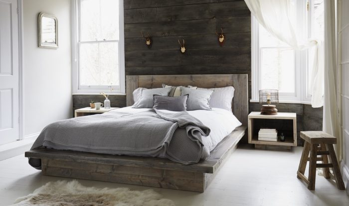 Interior design trends 2020 sustainability Chamonix reclaimed bed by Rust