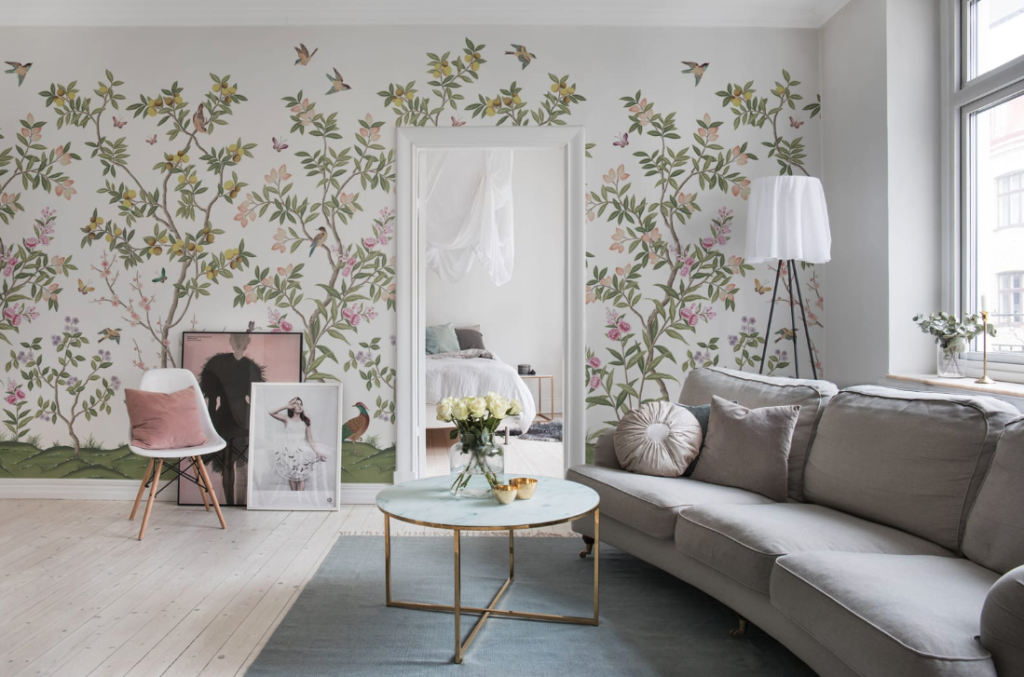 Statement wallpaper called Chinoiserie Chic £33 per sq m Rebel Walls